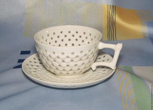 """Кружки и чашки ручной работы. Ярмарка Мастеров - ручная работа. Купить Чайная пара """"Утренняя"""". Handmade. Белый"""