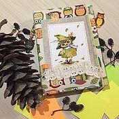 """Блокноты ручной работы. Ярмарка Мастеров - ручная работа Блокнот """"Совушки"""". Handmade."""