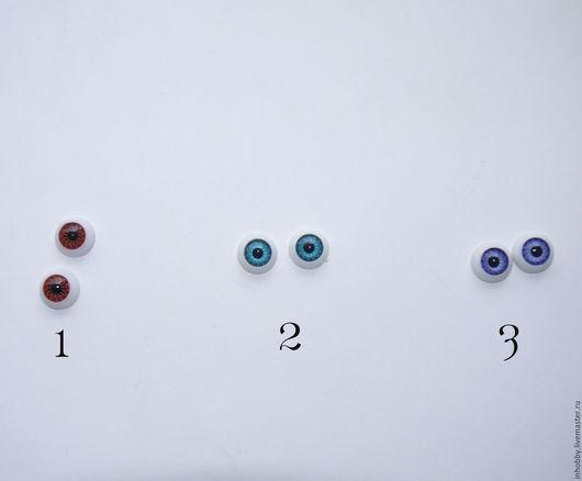 12 мм  1 красно-коричневые, 2-голубые,3 - светло-синие