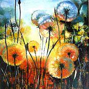 Картины и панно handmade. Livemaster - original item Evening whispers - oil painting on canvas, painting of flowers, flowers. Handmade.