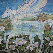 """Картины ручной работы. Ярмарка Мастеров - ручная работа Холодный батик """"Ветер перемен"""". Handmade."""