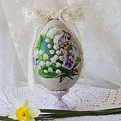 Подарки к праздникам handmade. Livemaster - original item large Easter egg with a painting of