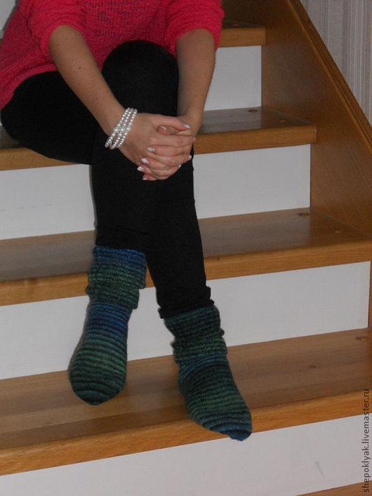 Носки, Чулки ручной работы. Ярмарка Мастеров - ручная работа. Купить Носки Полосатые. Handmade. Вязаные носки, подарок на новый год