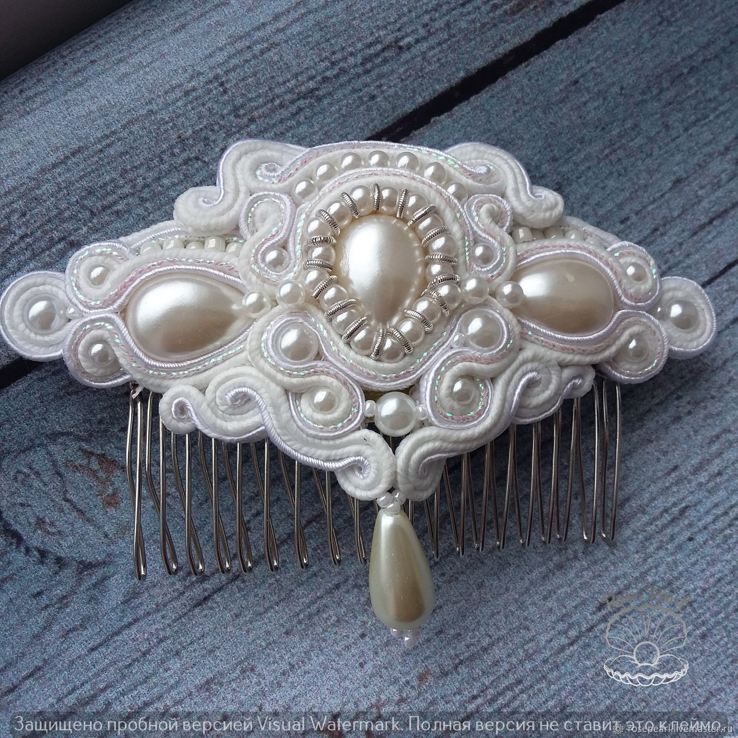 1ac72e04f Wedding Jewelry handmade. Livemaster - handmade. Buy Soutache Bridal comb  from the collection' ...