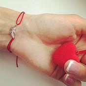 Украшения ручной работы. Ярмарка Мастеров - ручная работа Браслет с перышком. Handmade.