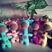 Куклы и игрушки ручной работы. Ярмарка Мастеров - ручная работа Вязаная игрушка.Игрушка ручной работы. Жираф.. Handmade.