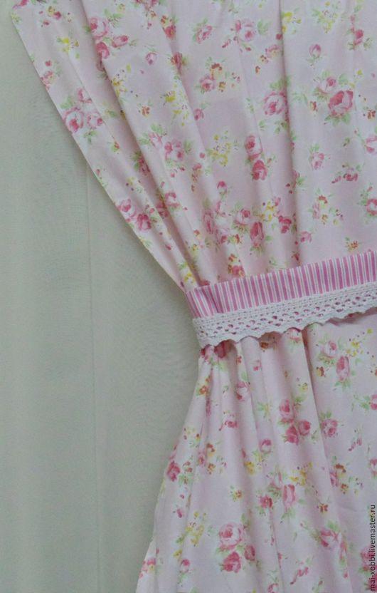 Текстиль, ковры ручной работы. Ярмарка Мастеров - ручная работа. Купить шторы для кухни или спальни в стиле шебби или прованс из хлопка. Handmade.