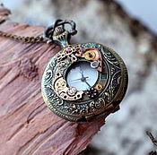 Украшения ручной работы. Ярмарка Мастеров - ручная работа Часы карманные в стиле steampunk. Handmade.
