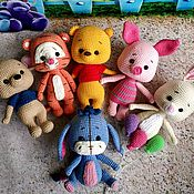 Мягкие игрушки ручной работы. Ярмарка Мастеров - ручная работа Винни Пух и его друзья. Handmade.