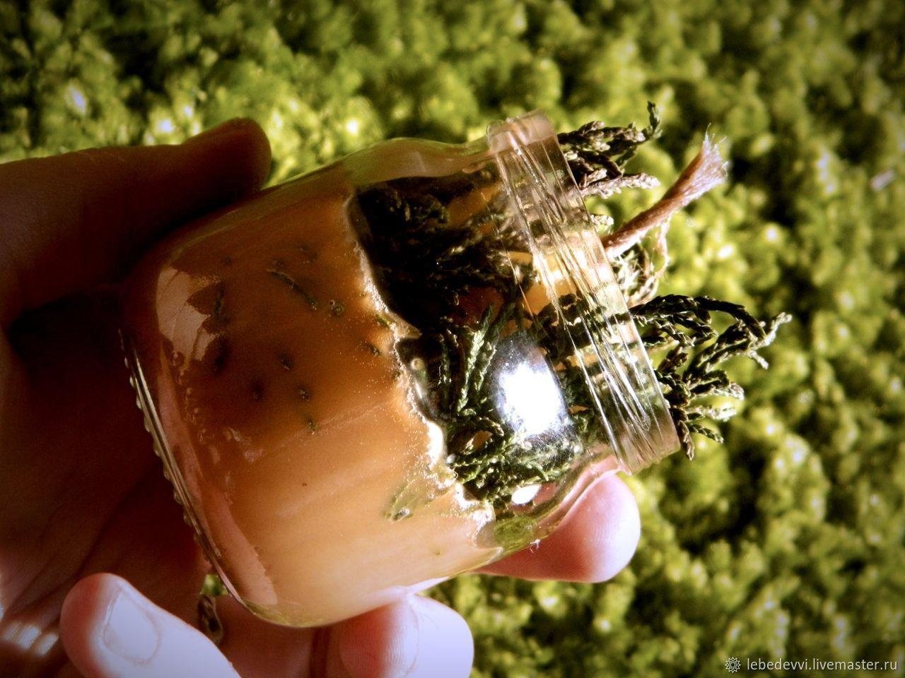 Свечи ручной работы. Ярмарка Мастеров - ручная работа. Купить Свеча в банке Колдовской лес. Handmade. Зеленый, пихта, артыш