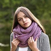 handmade. Livemaster - original item Snudy: Snood in 2 turns of kid mohair knitted for women. Handmade.