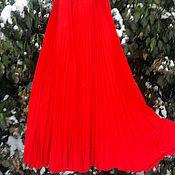 Одежда ручной работы. Ярмарка Мастеров - ручная работа Юбка 1,5 солнца-гофре Bianco Rosso. Handmade.