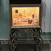 Куклы и игрушки ручной работы. Ярмарка Мастеров - ручная работа кованая  подставка под румбокс.. Handmade.
