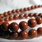 Материалы для творчества handmade. Livemaster - original item Jasper red 6 mm smooth ball. Handmade.