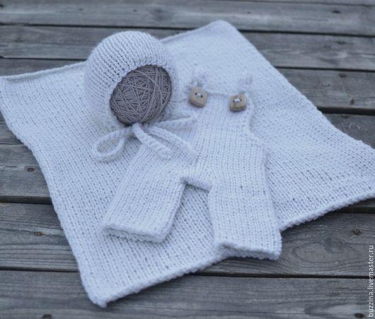Для новорожденных, ручной работы. Ярмарка Мастеров - ручная работа. Купить Стартовый набор для фотографа новорожденных штанишки+ шапочка + плед. Handmade.
