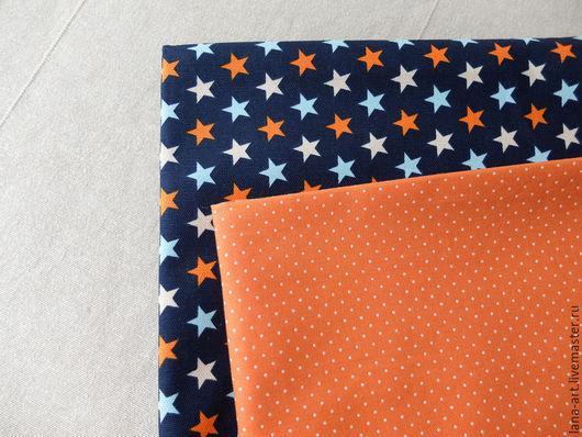 Шитье ручной работы. Ярмарка Мастеров - ручная работа. Купить Корейский хлопок ткани-компаньоны Звезды-2. Handmade.