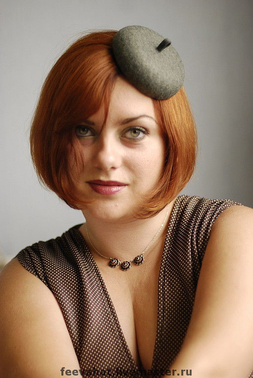 """Шляпы ручной работы. Ярмарка Мастеров - ручная работа. Купить Шляпка мини-берет """"Серая"""". Handmade. Шляпа, осень шляпа"""