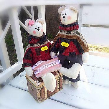 Куклы и игрушки ручной работы. Ярмарка Мастеров - ручная работа Пара мишек .. Handmade.