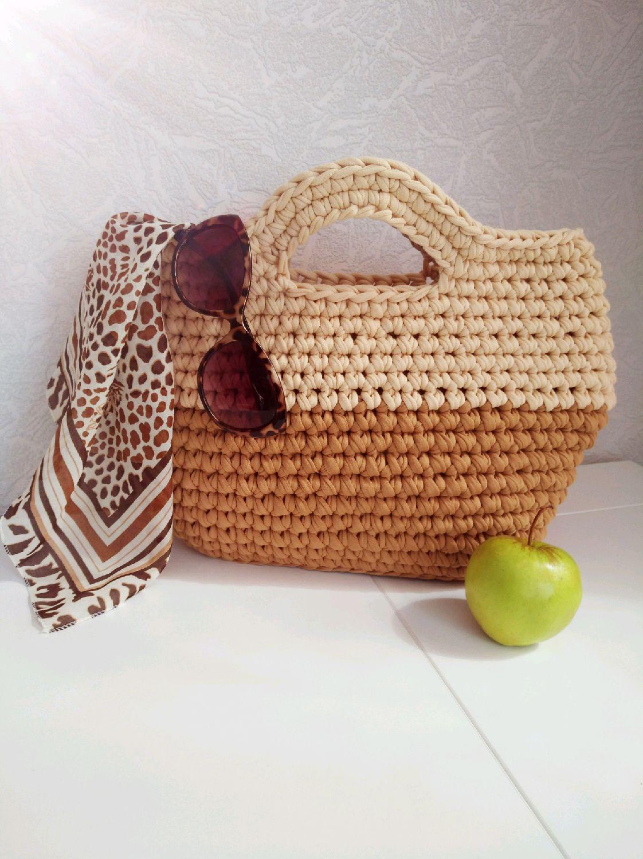 Вязание крючком пляжные сумки 69