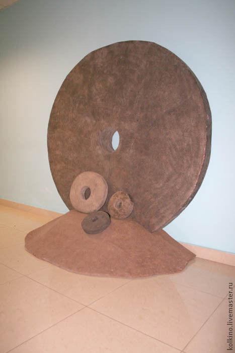 Ландшафтный дизайн ручной работы. Ярмарка Мастеров - ручная работа. Купить Каменные деньги острова ЯП. Handmade. Серый