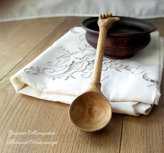 """Ложки ручной работы. Ярмарка Мастеров - ручная работа. Купить Ложка деревянная """"Во!"""" столовая резная. Handmade. Бежевый, воск"""