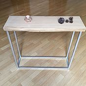 Подставки ручной работы. Ярмарка Мастеров - ручная работа Консоль из слэба дуба в стиле лофт. Handmade.