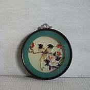 Винтаж ручной работы. Ярмарка Мастеров - ручная работа Панно  Птицы перламутр ручная работа Китай. Handmade.