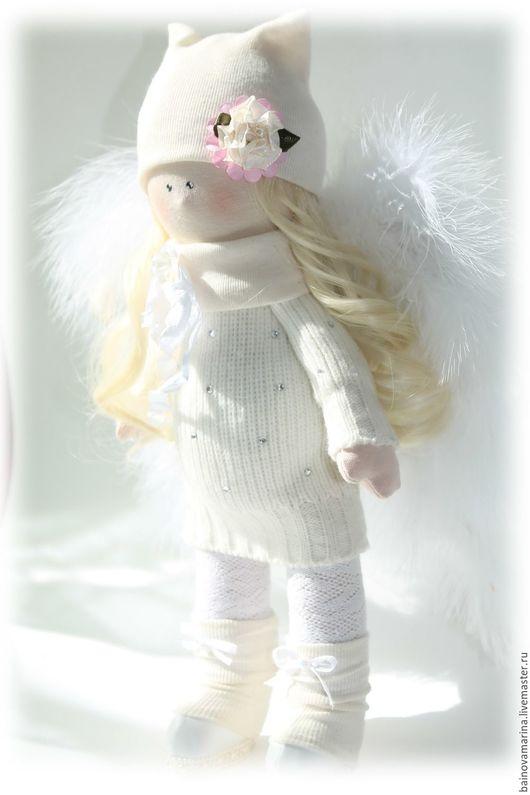 """Коллекционные куклы ручной работы. Ярмарка Мастеров - ручная работа. Купить кукла """"Ангелочек"""". Handmade. Кукла текстильная, ангелочек, трикотаж"""