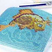 Сумки и аксессуары handmade. Livemaster - original item handbag purse gold fish bead. Handmade.