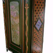 Дизайн и реклама ручной работы. Ярмарка Мастеров - ручная работа Ретро! Роспись мебели! Платяной шкаф. Handmade.