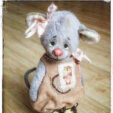 Куклы и игрушки ручной работы. Ярмарка Мастеров - ручная работа Шуня мышка тедди. Handmade.