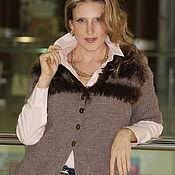 Одежда ручной работы. Ярмарка Мастеров - ручная работа Жакет вязаный деловой стиль. Handmade.