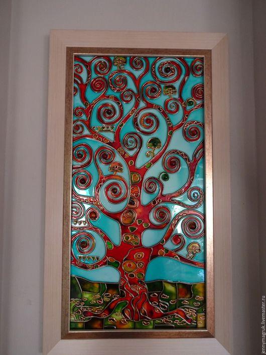 Символизм ручной работы. Ярмарка Мастеров - ручная работа. Купить Дерево в стиле Климта. Handmade. Бирюзовый, климт картины, модерн