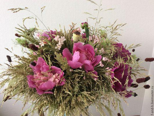 """Интерьерные композиции ручной работы. Ярмарка Мастеров - ручная работа. Купить """"PINK FLOYD"""" Интерьерные композиции цветы и флористика. Handmade."""