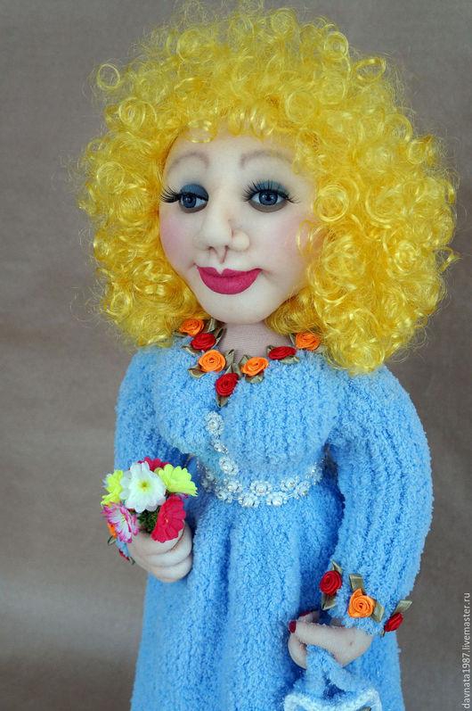 Человечки ручной работы. Ярмарка Мастеров - ручная работа. Купить Чулочная кукла Маша. Handmade. Голубой, кукла ручной работы