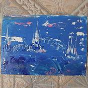 """Картины и панно ручной работы. Ярмарка Мастеров - ручная работа """"Морские замки"""". Handmade."""