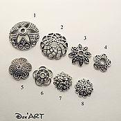 Материалы для творчества handmade. Livemaster - original item Bead caps in stock Art. ShB04. Handmade.