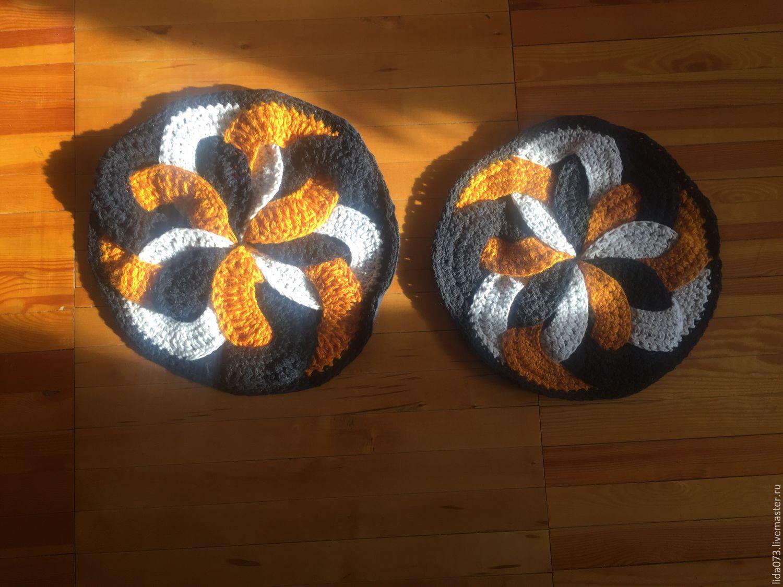Японские вязание коврик