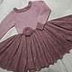 """Одежда для девочек, ручной работы. Заказать Платье из кид-мохера """"Розовая дымка"""". Юлия Бедина.  Студия вязания. Ярмарка Мастеров."""