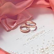 Свадебный салон ручной работы. Ярмарка Мастеров - ручная работа Обручальные кольца на заказ из золота. Handmade.