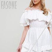Одежда handmade. Livemaster - original item dresses: White dress with lace