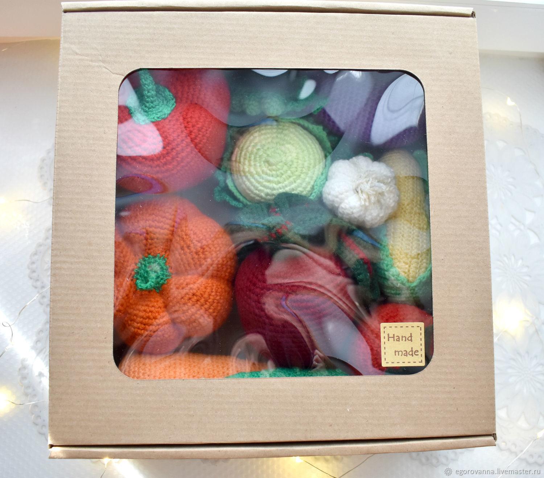 Набор вязаных овощей (18 штук), Кукольная еда, Москва,  Фото №1