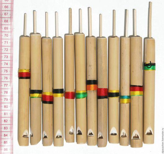 Духовые инструменты ручной работы. Ярмарка Мастеров - ручная работа. Купить Бамбуковый свисток, этнический музыкальный инструмент. Handmade. Бежевый