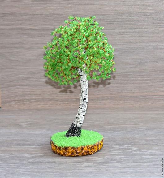 """Деревья ручной работы. Ярмарка Мастеров - ручная работа. Купить """"Стройная"""" березка из бисера. Handmade. Майская, Дерево из бисера"""