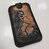 Сумки и аксессуары handmade. Livemaster - original item Case for any iPhone venom-genuine leather Case, Marvel. Handmade.