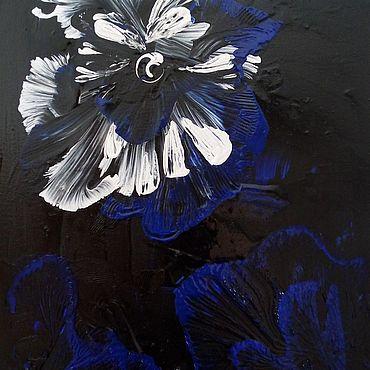 """Картины и панно ручной работы. Ярмарка Мастеров - ручная работа Картина """"Белый цветок"""" , холст, акрил. Handmade."""