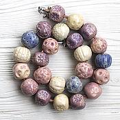 Украшения handmade. Livemaster - original item Beads ceramics