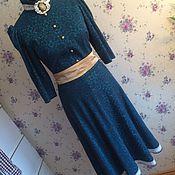 Одежда ручной работы. Ярмарка Мастеров - ручная работа Платье ручной работы в винтажном стиле изумрудного цвета. Handmade.