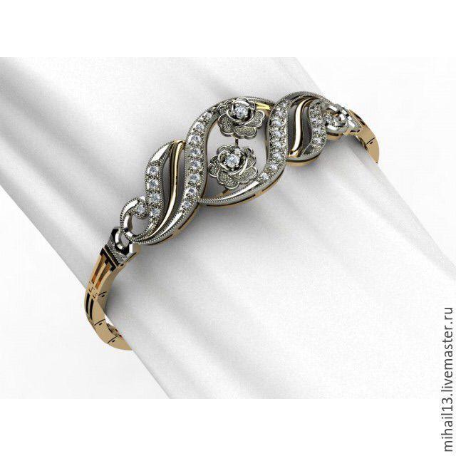 Браслет из золота с бриллиантами, Браслет из бусин, Москва,  Фото №1
