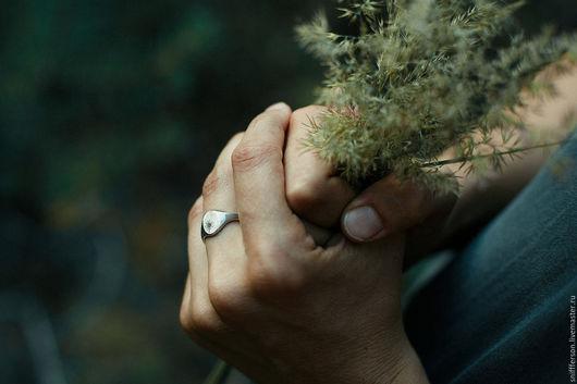 Кольца ручной работы. Ярмарка Мастеров - ручная работа. Купить серебряная печатка botanica. Handmade. Серебряный, природа, папоротник